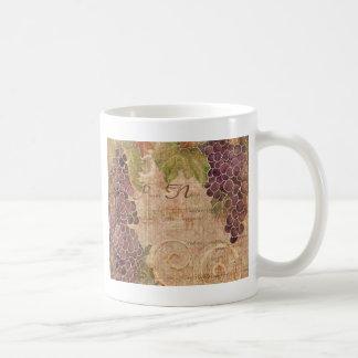 Decoración envejecida del hogar de la acuarela del taza de café