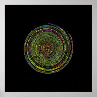 decoración espiral hipnótica póster