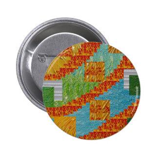 Decoración exótica del collage del arte por pin redondo de 2 pulgadas