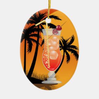 Decoración/favor/ornamento del cóctel del paraíso adorno ovalado de cerámica