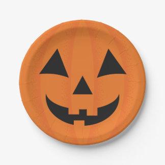 Decoración feliz anaranjada de Halloween de la Platos De Papel