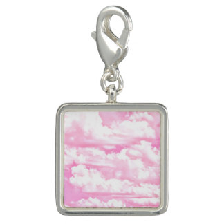 Decoración feliz de las nubes de los rosas bebés dijes con foto