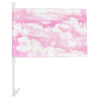 Decoración feliz de las nubes del rosa color de