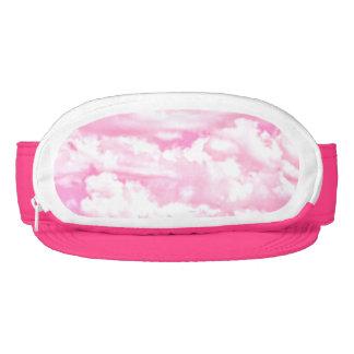 Decoración feliz de las nubes del rosa color de visera