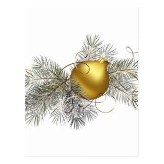 Decoración festiva del oro tarjeta postal