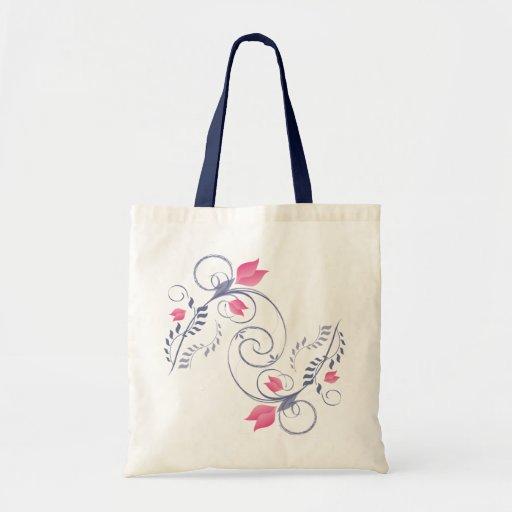 Decoración floral bolsa de mano