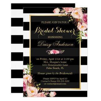"""Decoración floral del vintage para casar la ducha invitación 5"""" x 7"""""""