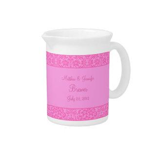 Decoración floral rosada del florero o de la jarra