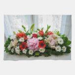 Decoración floral toalla de mano