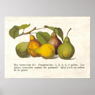 Decoración francesa de la cocina del país de las p impresiones