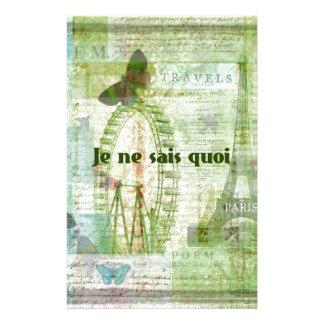 Decoración francesa del tema de París de la frase  Papeleria De Diseño