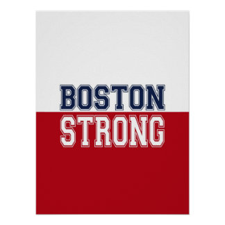 Decoración fuerte del alcohol de Boston Póster
