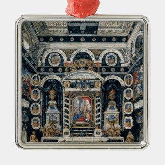 Decoración funeraria a la memoria de Enrique II Adorno Navideño Cuadrado De Metal