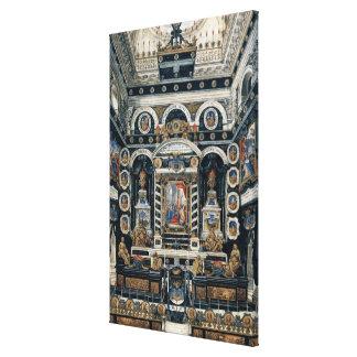 Decoración funeraria a la memoria de Enrique II Impresión En Lona Estirada