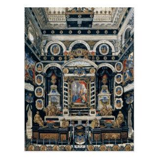 Decoración funeraria a la memoria de Enrique II Postal