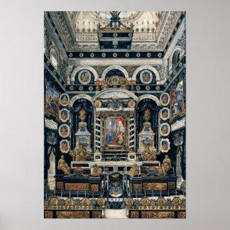 Decoración funeraria a la memoria de Enrique II Póster