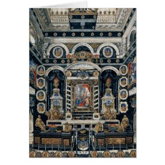 Decoración funeraria a la memoria de Enrique II Tarjeta De Felicitación