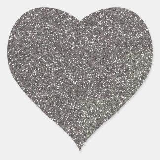 Decoración gris lista para modificar para pegatina en forma de corazón