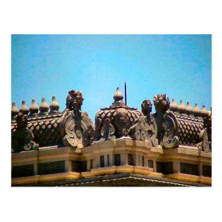 Decoración hindú del tejado postales