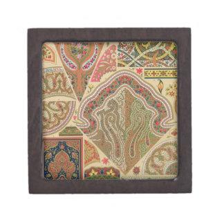 Decoración india, placa XIX de 'Orna policromo Caja De Joyas De Calidad