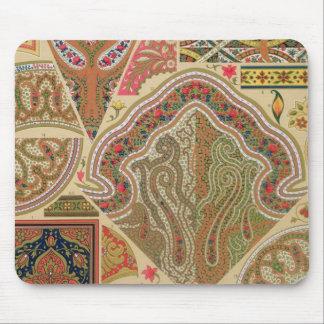 Decoración india, placa XIX de 'Orna policromo Tapete De Ratones