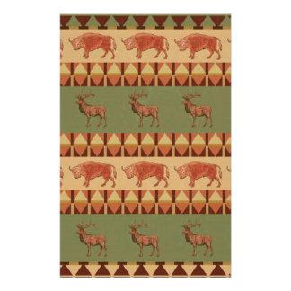 """decoración indígena del modelo de los ciervos folleto 5.5"""" x 8.5"""""""