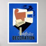 Decoración interior WPA 1940 Posters