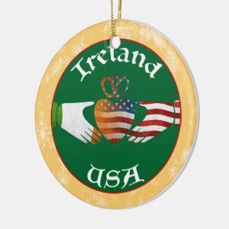 Decoración Irlanda los E.E.U.U. del ornamento del Adorno Redondo De Cerámica