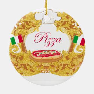 Decoración italiana de la pizza adorno redondo de cerámica