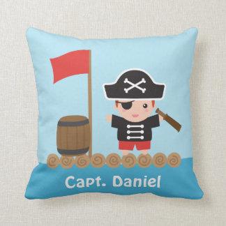Decoración linda de capitán Ocean Raft Boys Room Cojín