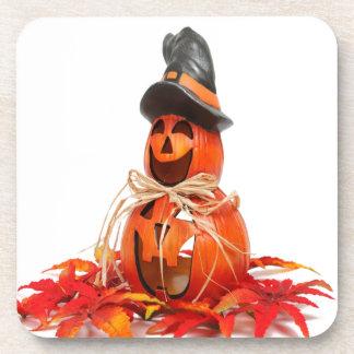 decoración linda de Halloween de la calabaza Posavasos De Bebida