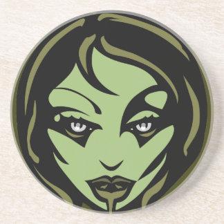 Decoración linda del chica del zombi de Halloween  Posavasos Diseño