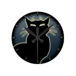 Decoración linda del gato del reloj de pared del a