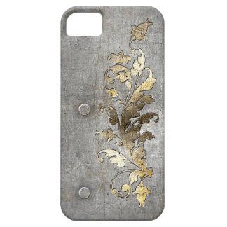 decoración medieval del metal de la armadura iPhone 5 fundas