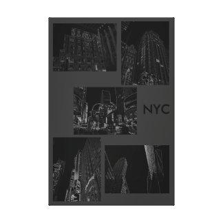 Decoración moderna NYC urbano B/W del arte del Impresión En Lienzo Estirada