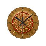 Decoración nativa moderna de los relojes de pared