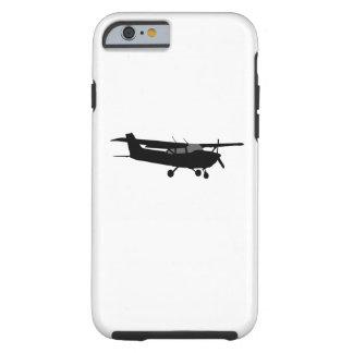 Decoración negra del vuelo de la silueta de Cessna Funda De iPhone 6 Tough