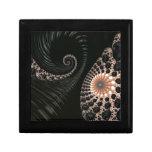 Decoración negra hermosa del arte del fractal caja de regalo