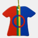 Decoración nórdica de la camiseta de la raya del c adornos de navidad