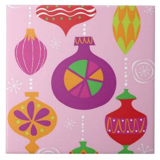 Decoración numerosa del navidad ilustrada en diffe azulejos