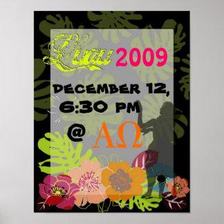 Decoración o fiesta de los posters de Luau