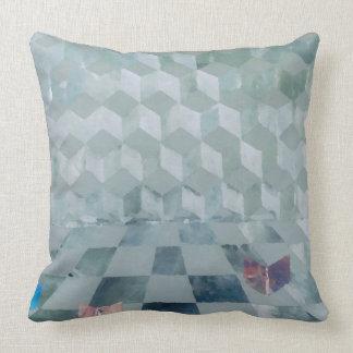Decoración óptica de la almohada del gris de plata cojín decorativo