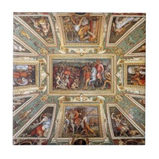 Decoración Palazzo Vecchio Florencia Giorgi del Azulejo Cuadrado Pequeño
