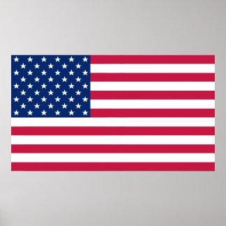 Decoración patriótica los E.E.U.U. de Ministerio Póster