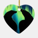 Decoración personalizada ornamento del amor del adorno navideño de cerámica en forma de corazón