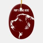 Decoración personalizada ornamento del perro de ornamentos para reyes magos