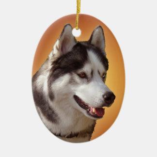 Decoración personalizada ornamento fornido del adorno navideño ovalado de cerámica
