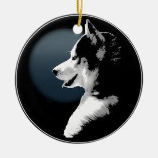 Decoración personalizada ornamento fornido del adorno navideño redondo de cerámica