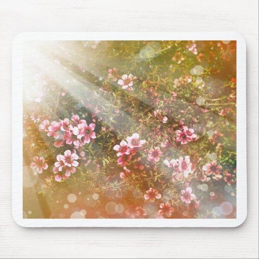 decoración preciosa del arte de la foto floral fem alfombrillas de ratones