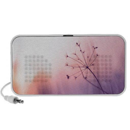 decoración preciosa del arte de la foto floral fem laptop altavoz